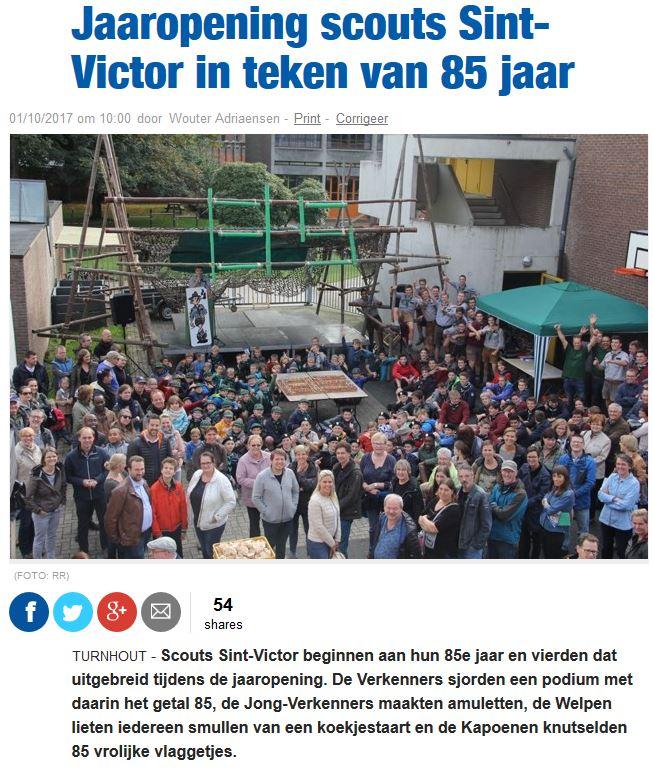 Artiekl Nieuwsblad_85 jaar scouts Sint-Victor 02102017